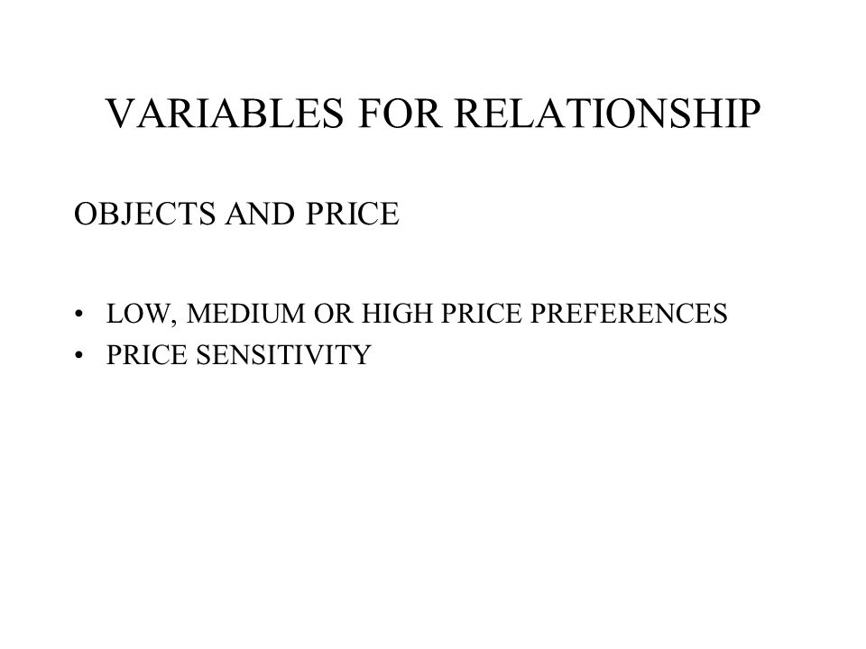 VARIABLES FOR RELATIONSHIP OBJECTS AND PRODUCT BUYING SITUATION LOYALTY MOTIVATION USER STATUS USAGE RATE ATTITUDE
