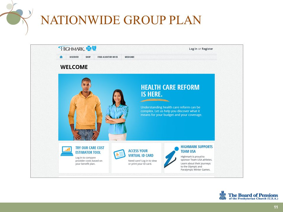 NATIONWIDE GROUP PLAN 11