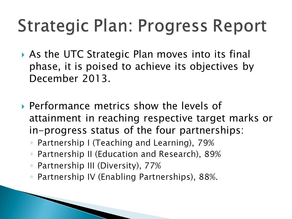 The 28 action committees that guided the first phase of the Strategic Plan have been whittled to six task forces that will complete the remaining objectives and focus on the theme of Achieving Institutional Distinctiveness.