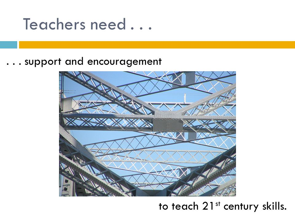 Teachers need...... to embrace change, which is good, necessary and exciting.