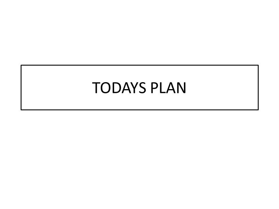 TODAYS PLAN