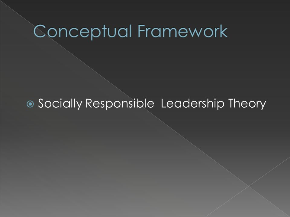 Socially Responsible Leadership Theory
