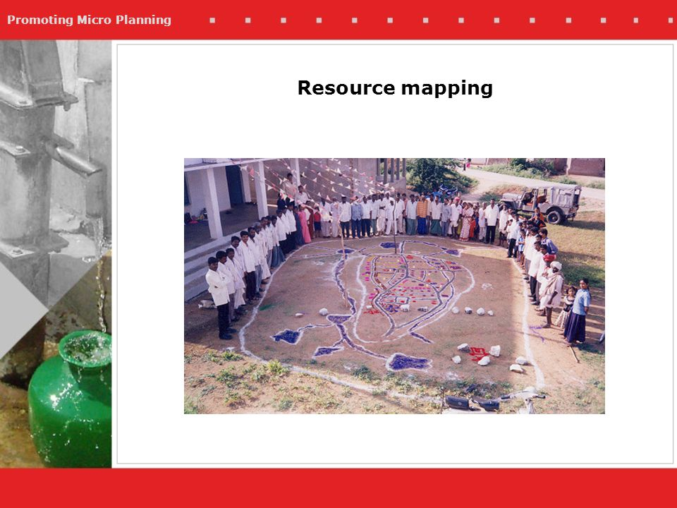 Promoting Micro Planning Resource mapping
