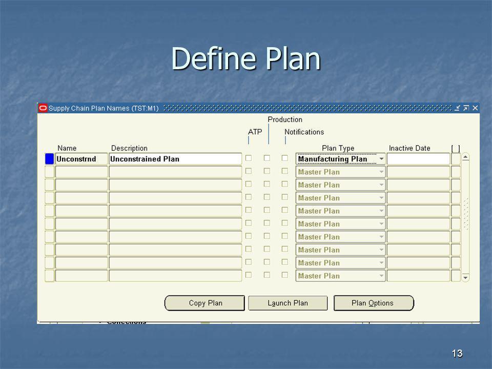 13 Define Plan