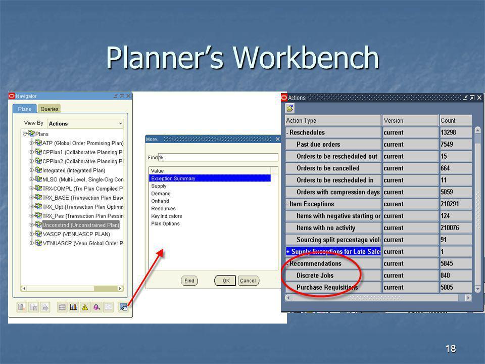 18 Planners Workbench
