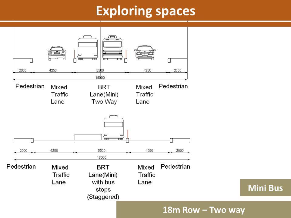 Exploring spaces Mini Bus 18m Row – Two way