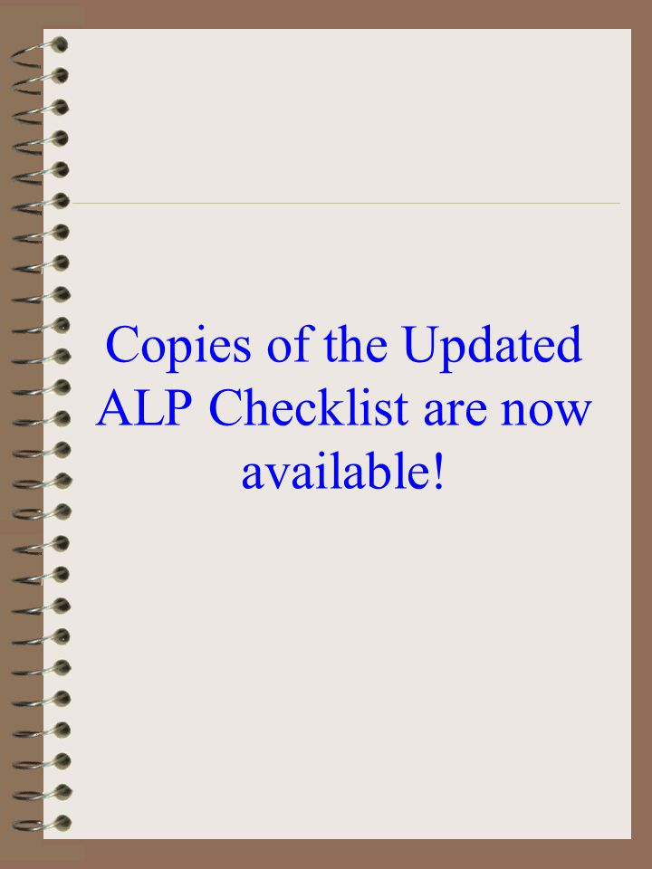 ACIP & ALP Be sure all ACIP development items are properly sequenced and are reflected on an FAA Approved ALP. NEPA Studies must precede all proposed