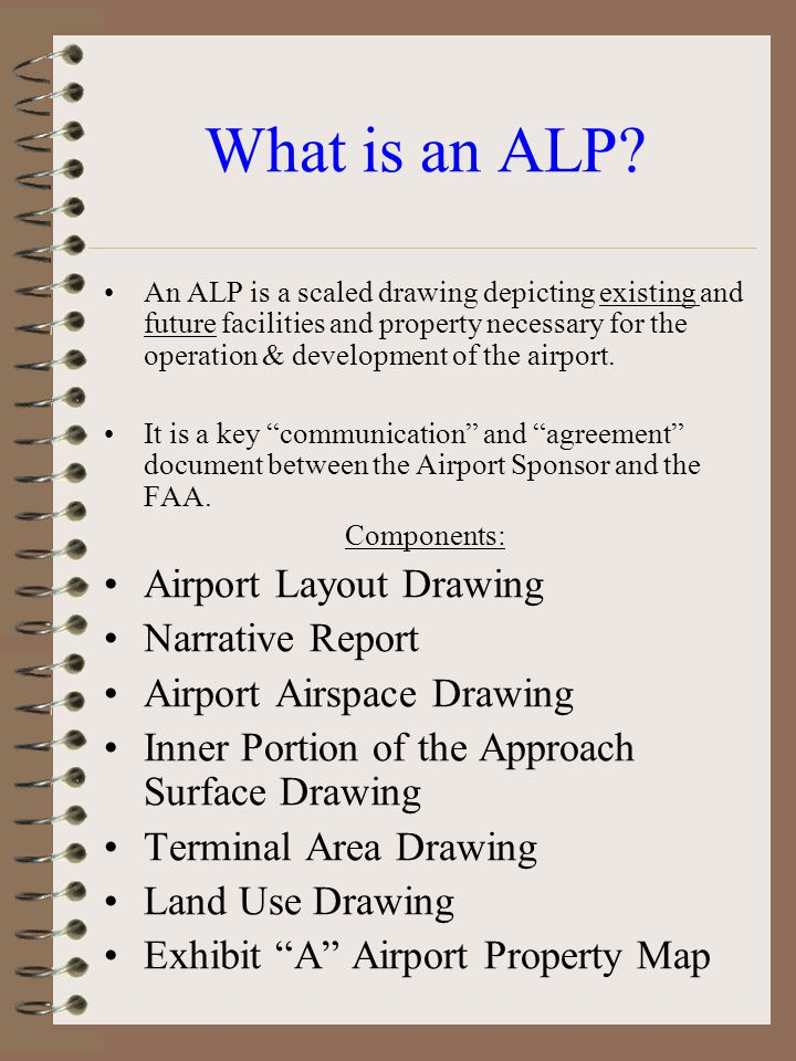 Airport Layout Plans (ALPs) Definition and FAA Approval requirements