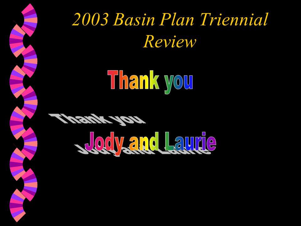 2003 Basin Plan Triennial Review
