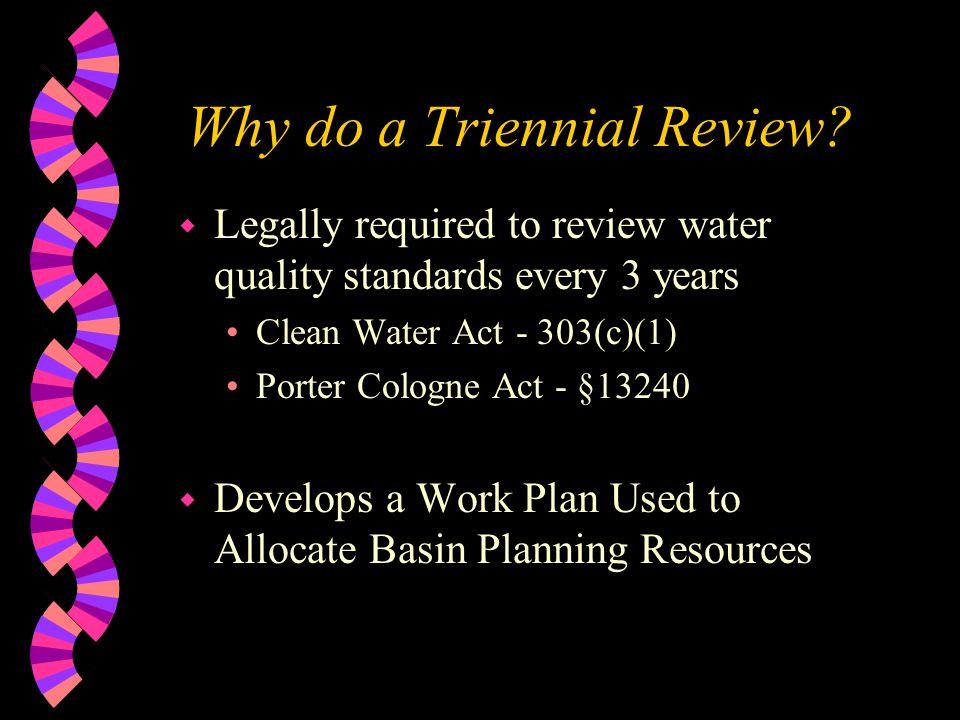 Why do a Triennial Review.