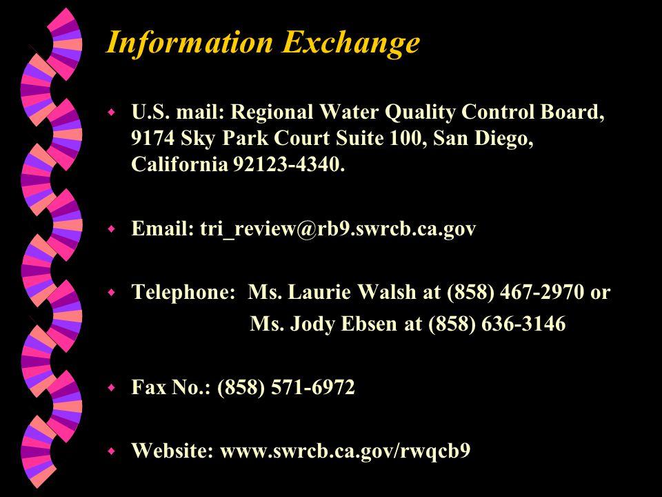 Information Exchange w U.S.