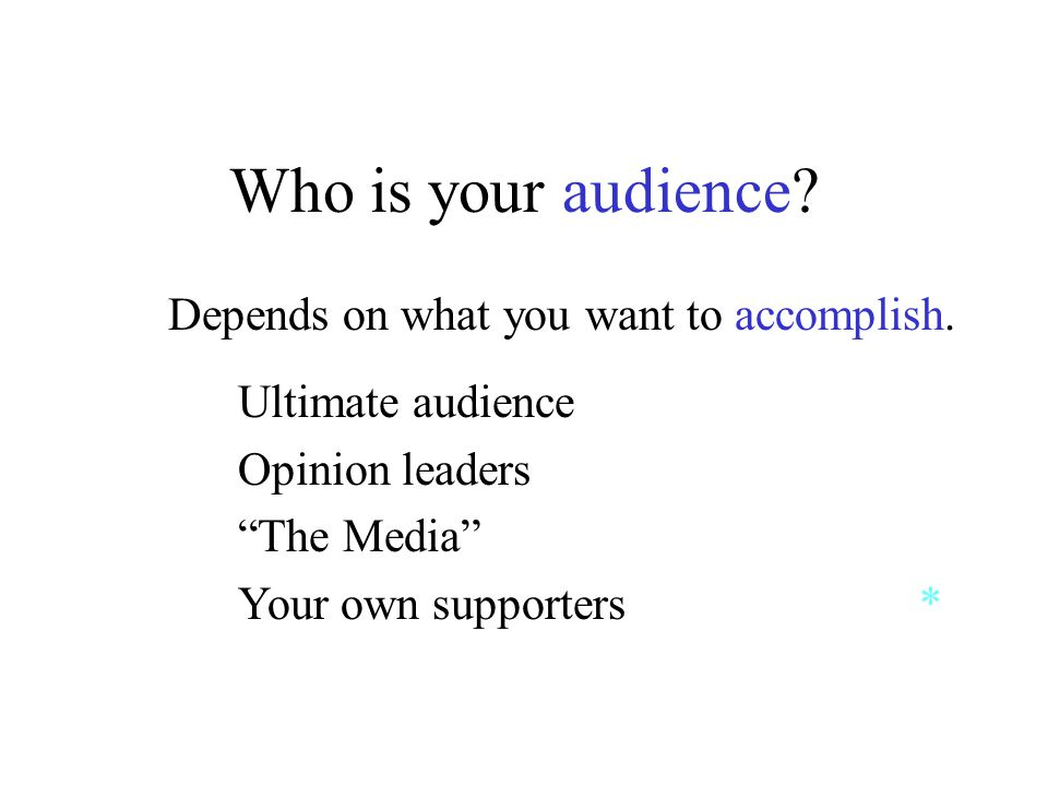 Who is your audience. Depends on what you want to accomplish.