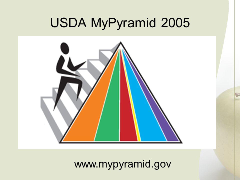 USDA MyPyramid 2005 www.mypyramid.gov