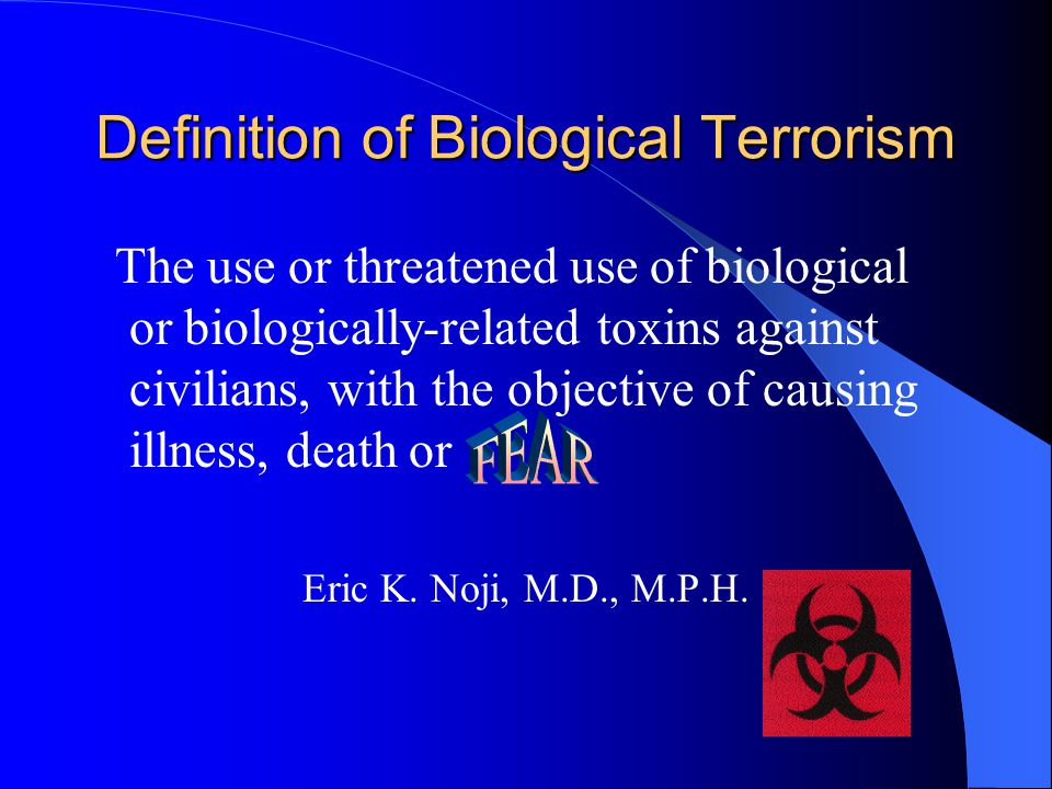 CDC Epidemiology and Bioterrorism The detection and control of saboteurs are the responsibilities of the FBI, but the recognition of epidemics caused by sabotage is particularly an epidemiologic function….
