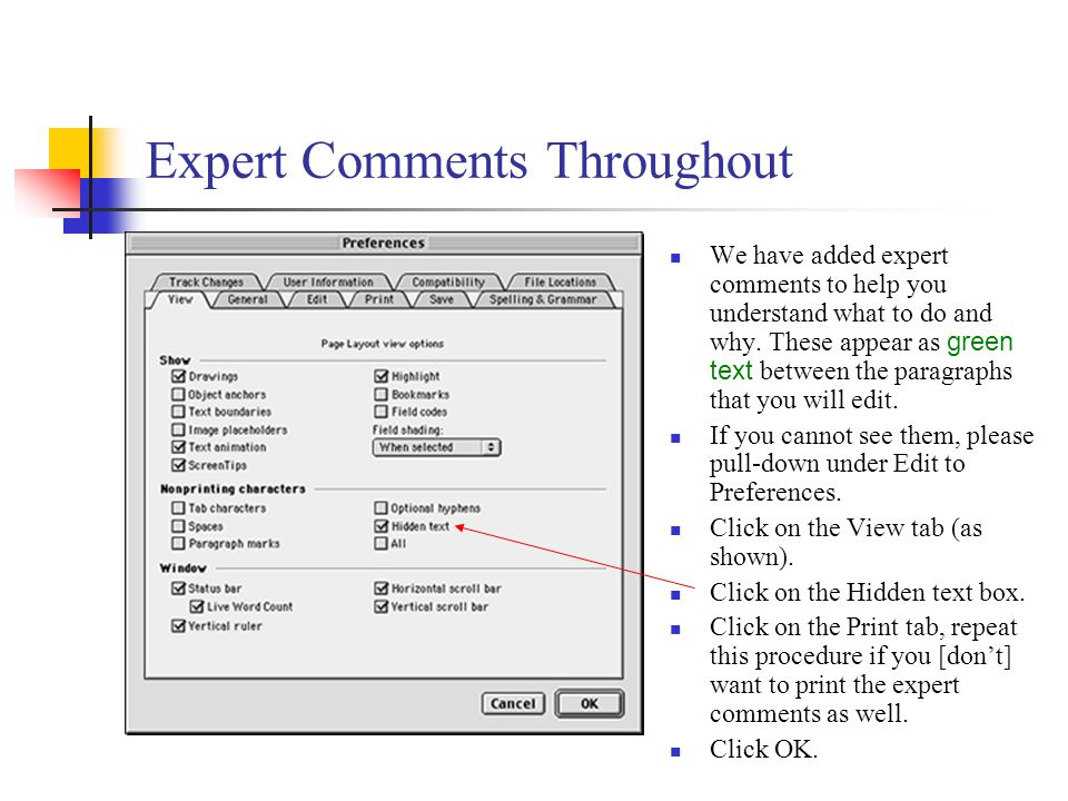 Expert Comments Throughout We have added expert comments to help you understand what to do and why.