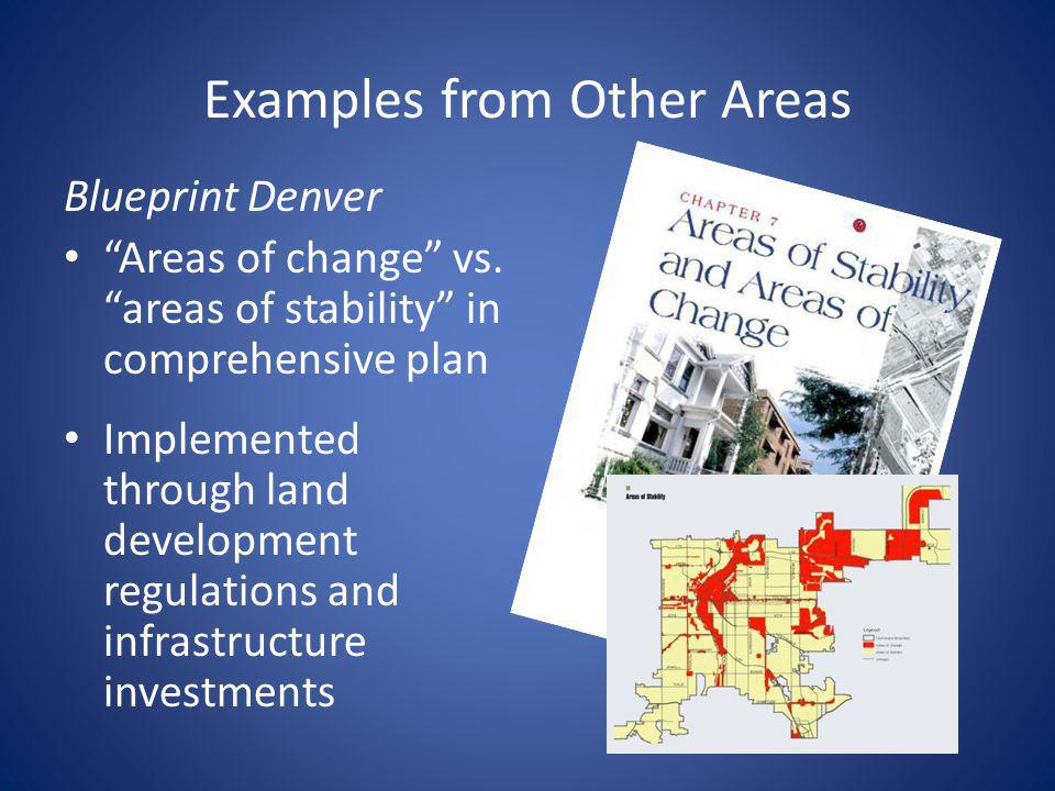 Examples from Other Areas Blueprint Denver Areas of change vs.