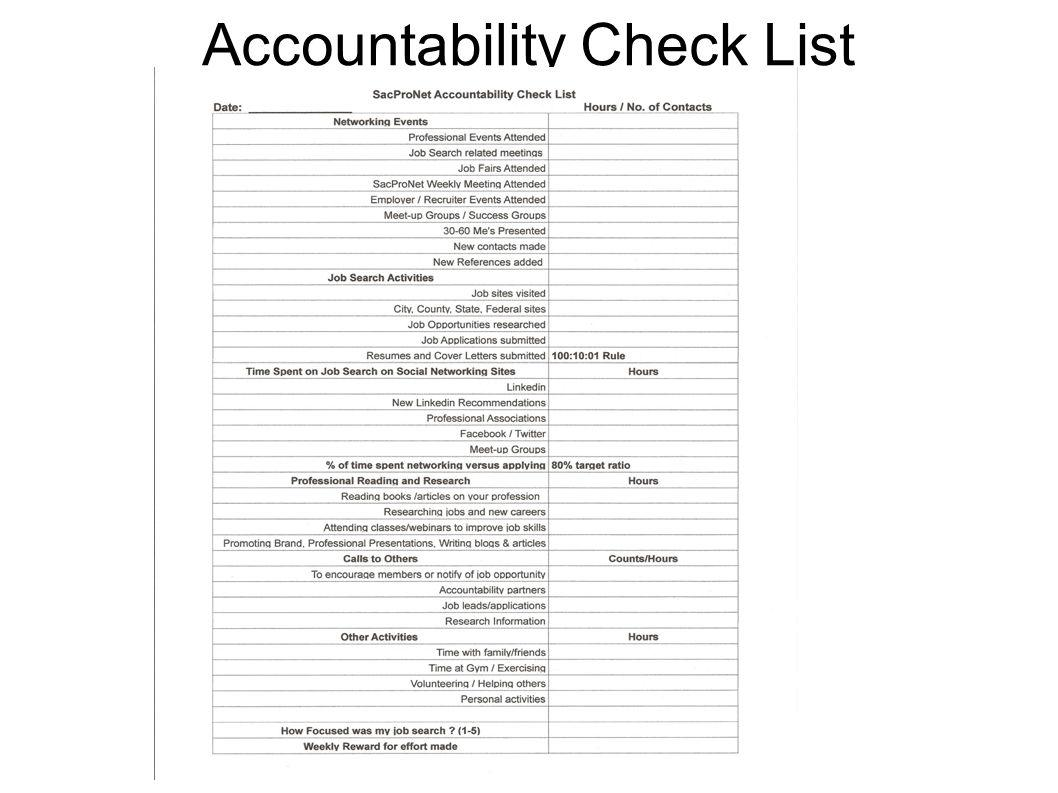 Accountability Check List