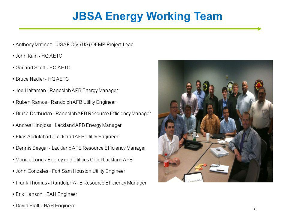Objective: Provide project management support to JBSA to facilitate an environment of open dialogue and information exchange whereby the following commitments can be met: 1.Construct an Energy Strategic Management Plan that ties all of the JBSA activity to EO, legislation, QDR, OSD policy, etc.