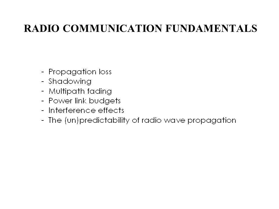 RADIO COMMUNICATION FUNDAMENTALS