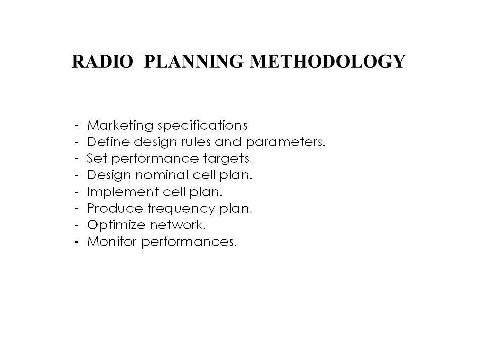 RADIO PLANNING METHODOLOGY