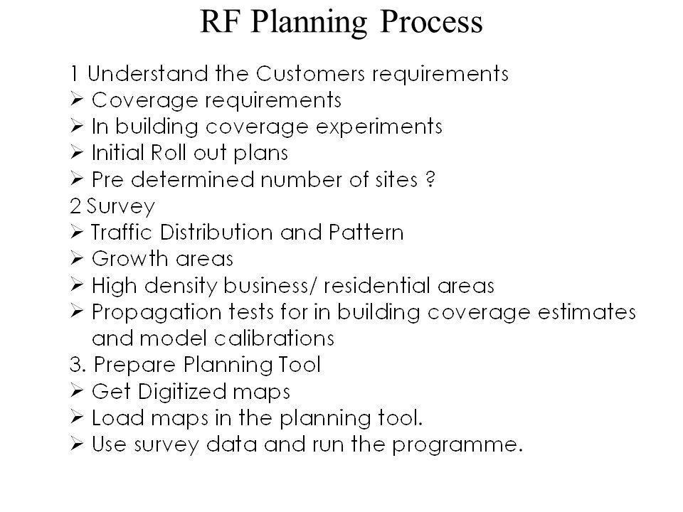 RF Planning Process