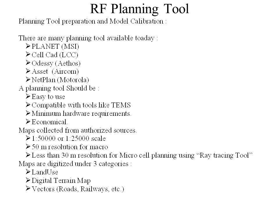 RF Planning Tool