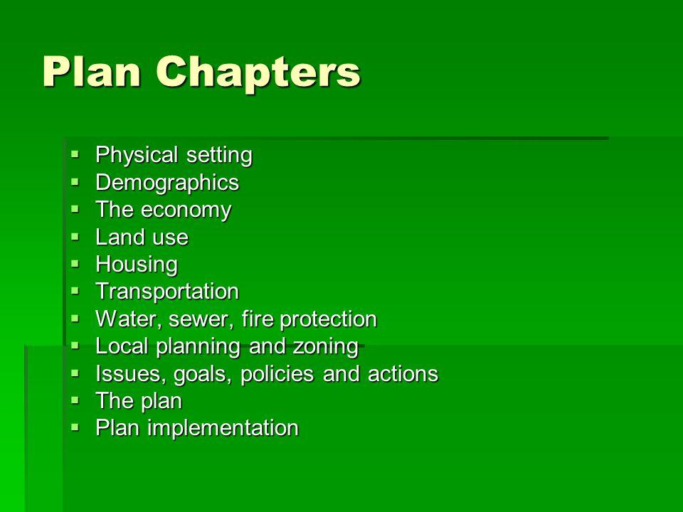 The Plan Greenways plan Greenways plan Land use plan Land use plan