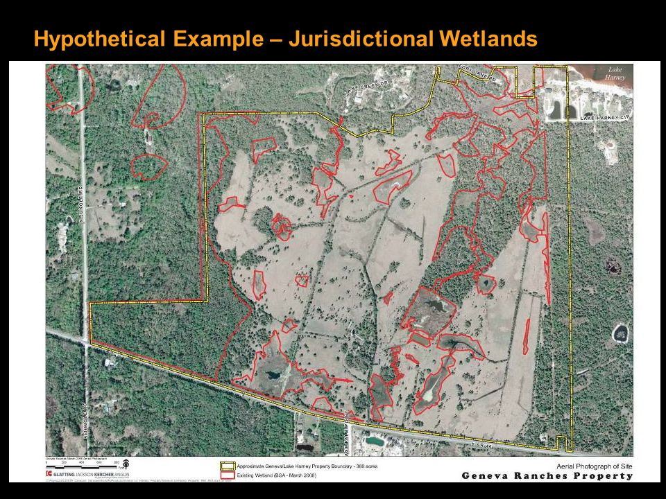 Hypothetical Example – Jurisdictional Wetlands