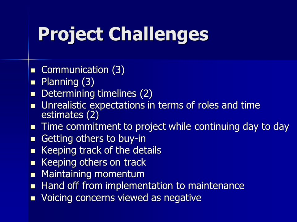 The Project Charter Project name Project name Start and end dates Start and end dates Project Purpose – define in terms of customer/client expectations Project Purpose – define in terms of customer/client expectations Key Deliverables Key Deliverables Project team and key stakeholders Project team and key stakeholders Critical success factors Critical success factors