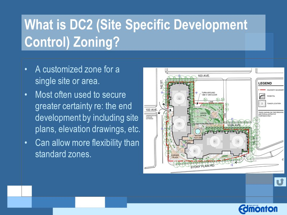 What is DC2 (Site Specific Development Control) Zoning.