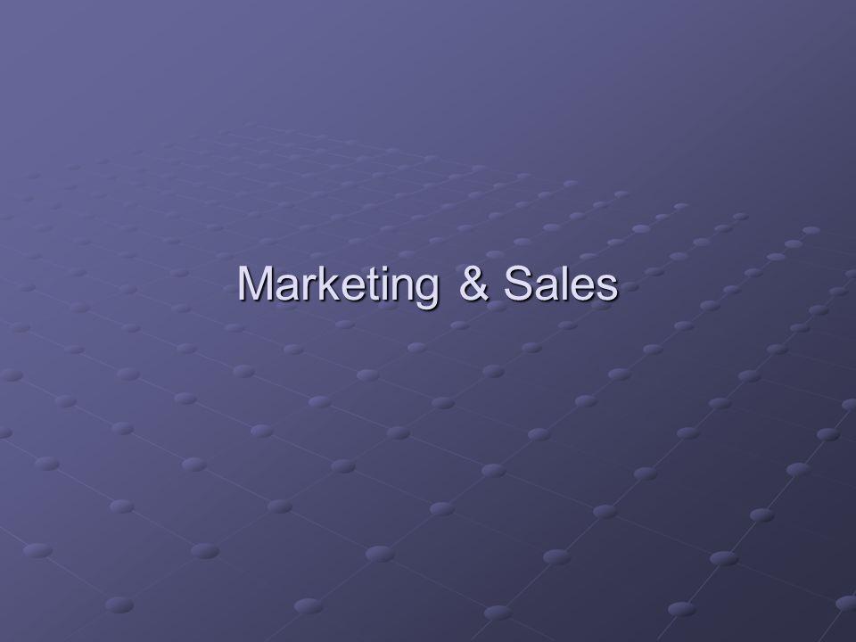 Marketing & Sales