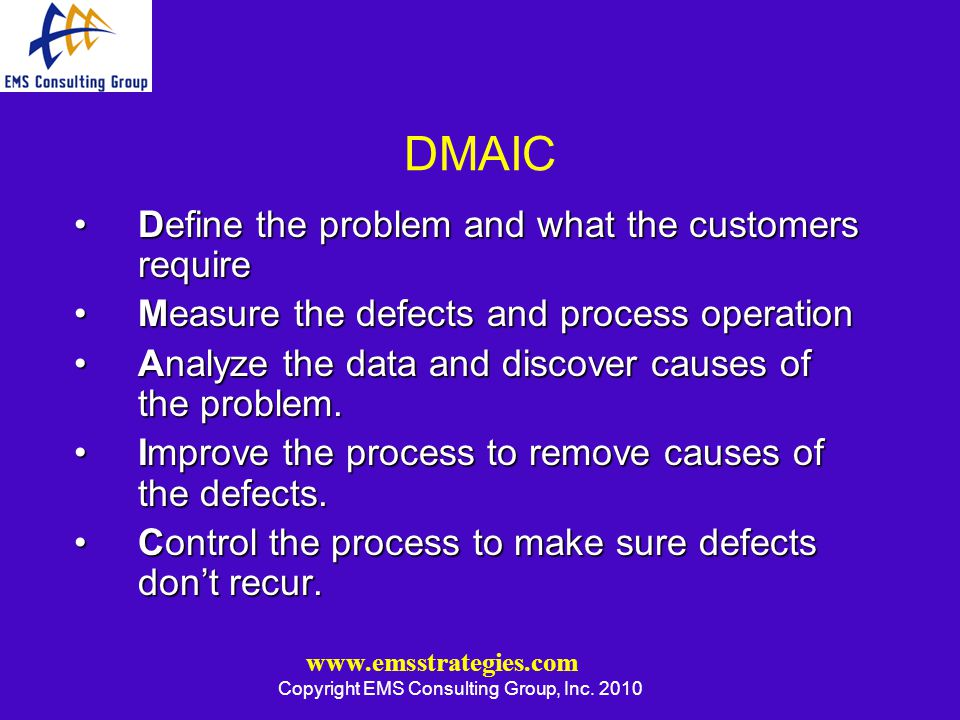 www.emsstrategies.com Copyright EMS Consulting Group, Inc.