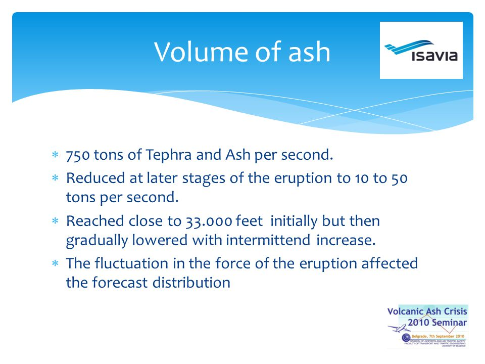 750 tons of Tephra and Ash per second. Reduced at later stages of the eruption to 10 to 50 tons per second. Reached close to 33.000 feet initially but