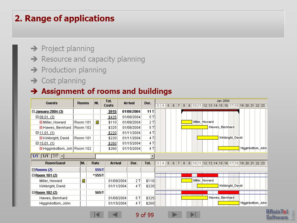 70 of 99 1.What is A-Plan for Windows. 2. Range of applications 3.