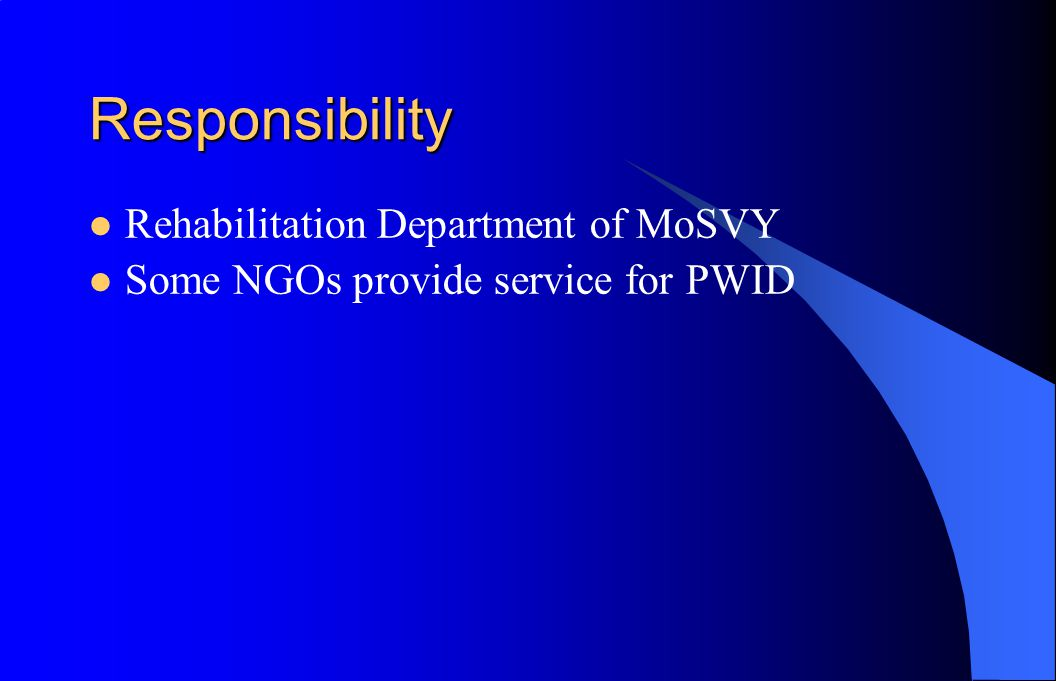 Target population Staff of Government Ministries (24 p)and Government Provincial (24 provinces/ Cities) NGOs staff(40p from 56 NGOs work with PWD and 4 NGOs provide services to PWID in Cambodia)