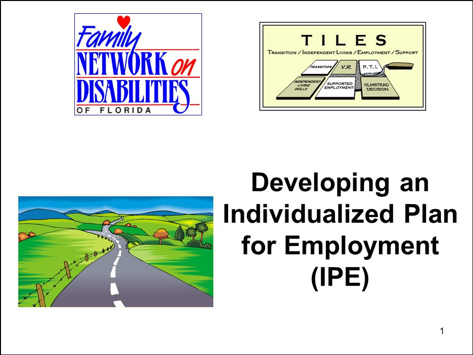 1 Developing an Individualized Plan for Employment (IPE)