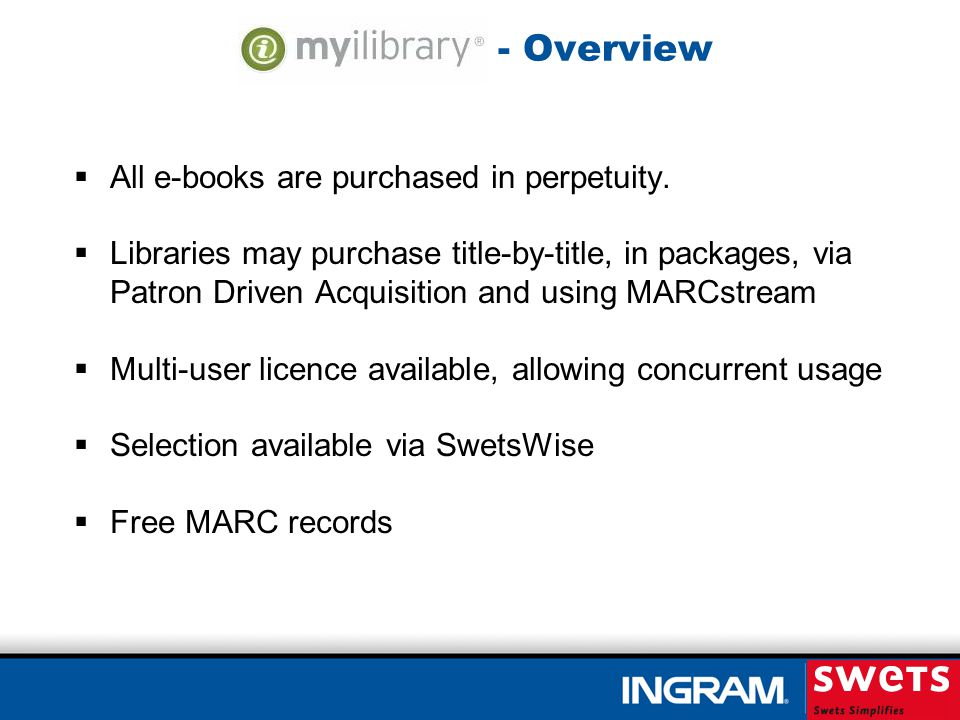- Overview All e-books are purchased in perpetuity.