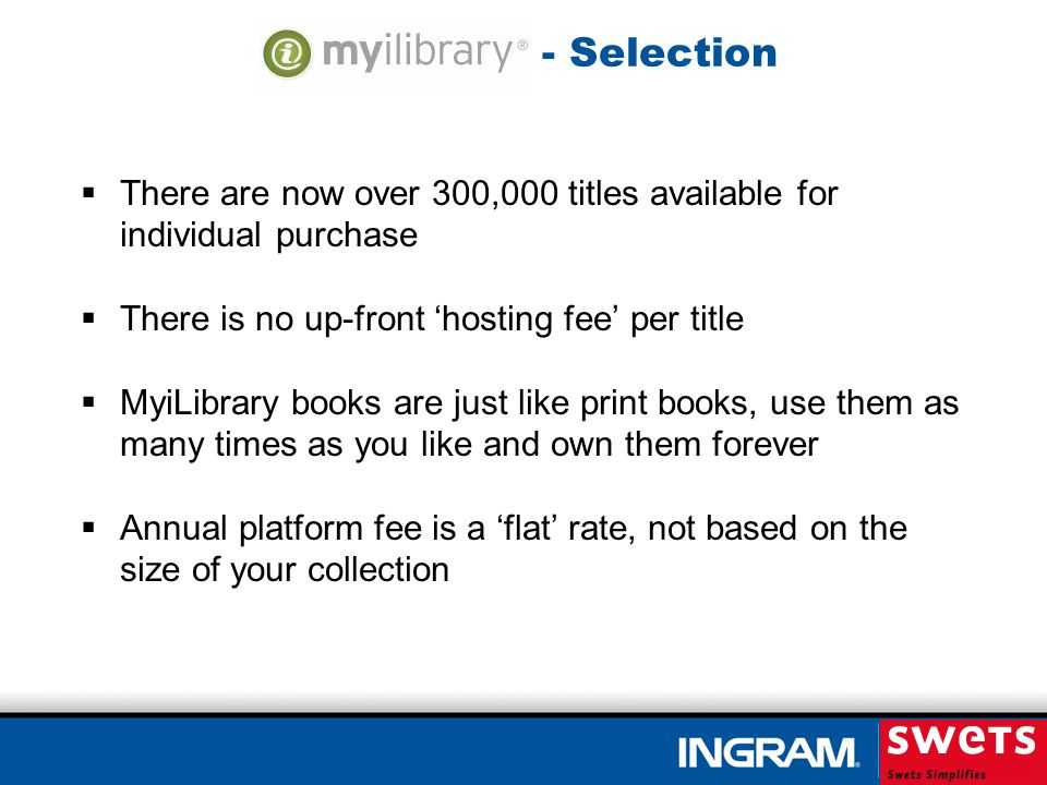 - MARCStream MyiLibrary will use your patron plan profile to notify you of new titles that are published A free MARC record will be provided for each title This allows you to update your Patron Selection Plan and keep content relevant The plan can be put on hold or ended at any time