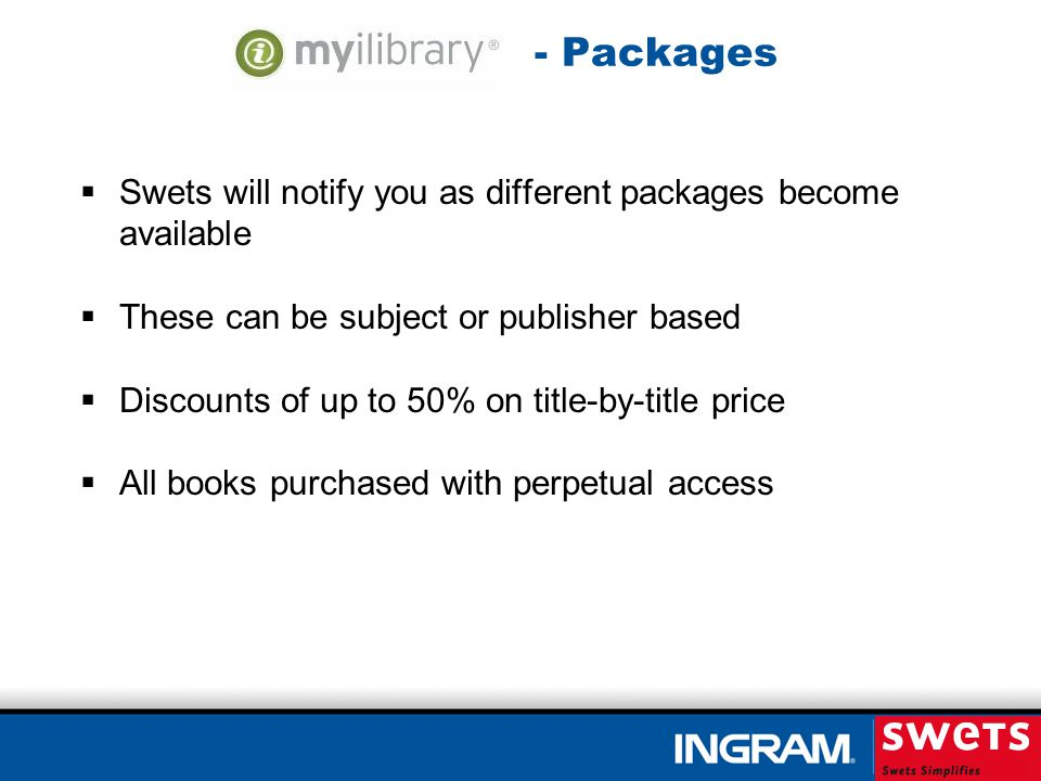 Patron Selection Plans - Overview Selection by the patron – ALL e-books purchased are used.