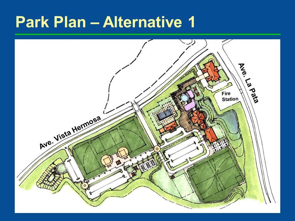 Park Plan – Alternative 1 Overall Plan Ave. Vista Hermosa Ave. La Pata Fire Station