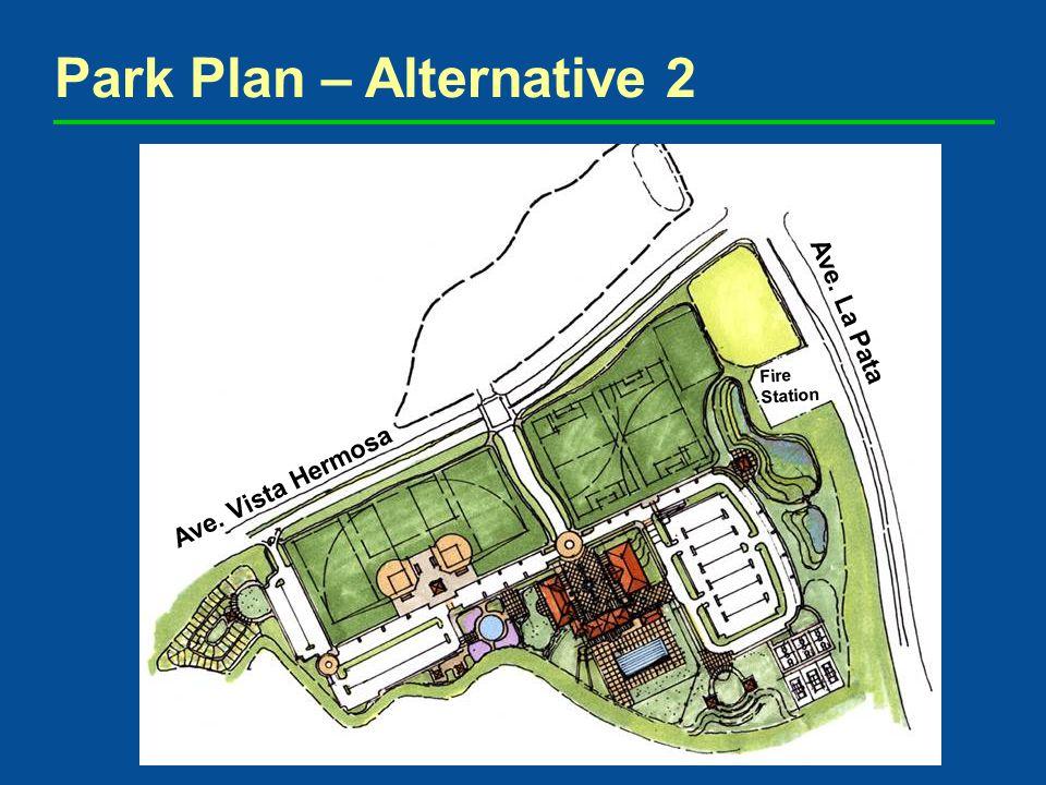 Park Plan – Alternative 2 Ave. Vista Hermosa Ave. La Pata Fire Station