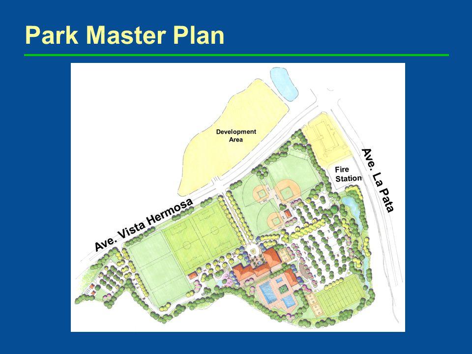 Park Master Plan Ave. Vista Hermosa Ave. La Pata Fire Station Development Area