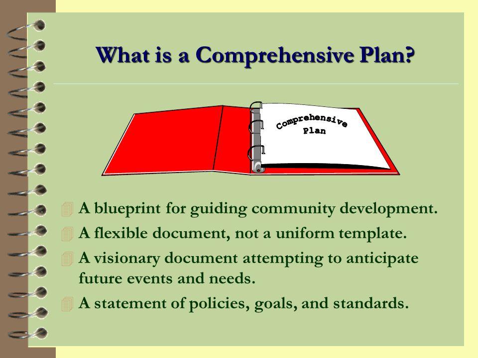 THE COMPREHENSIVE PLAN
