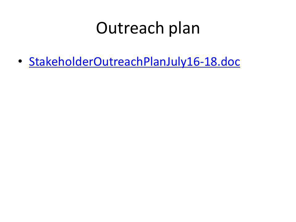 Outreach plan StakeholderOutreachPlanJuly16-18.doc