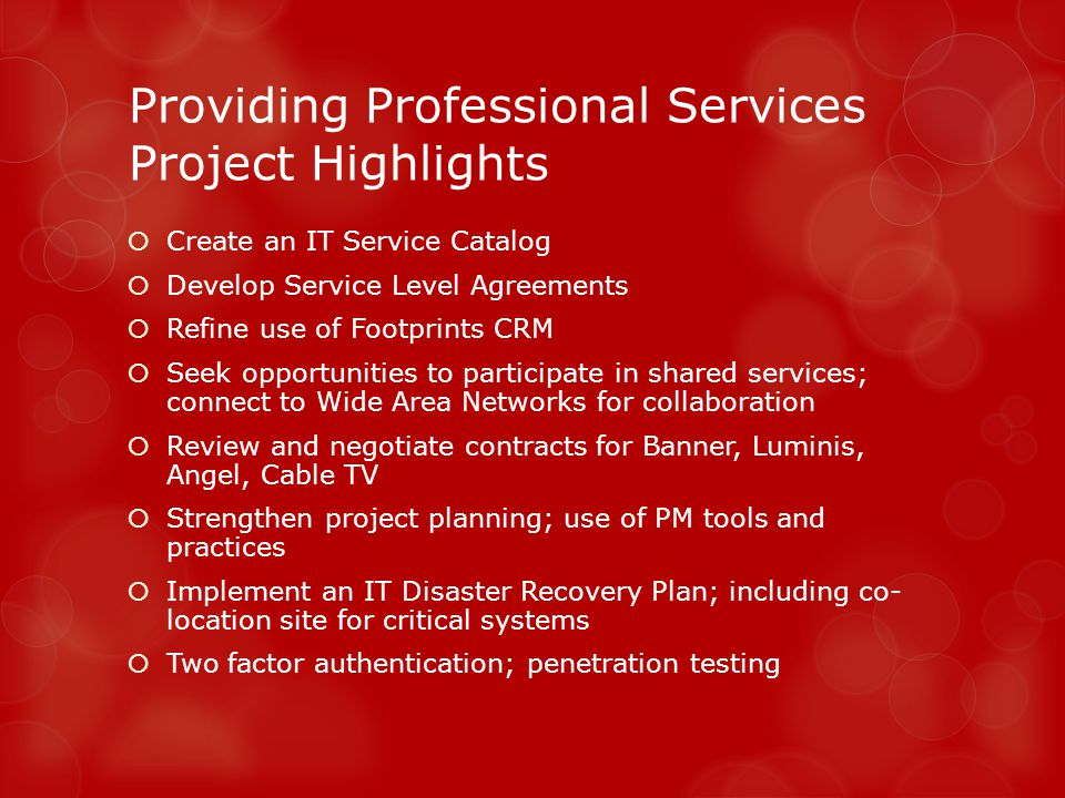 Information Resources Project Pipeline Spring 2013 Portfolio