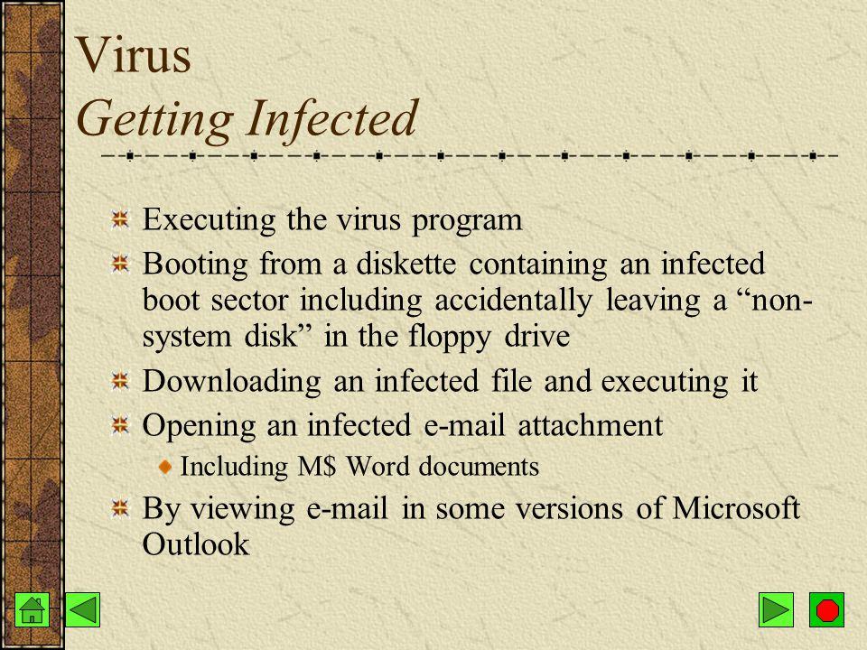 Virus Transmission Networks Diskettes