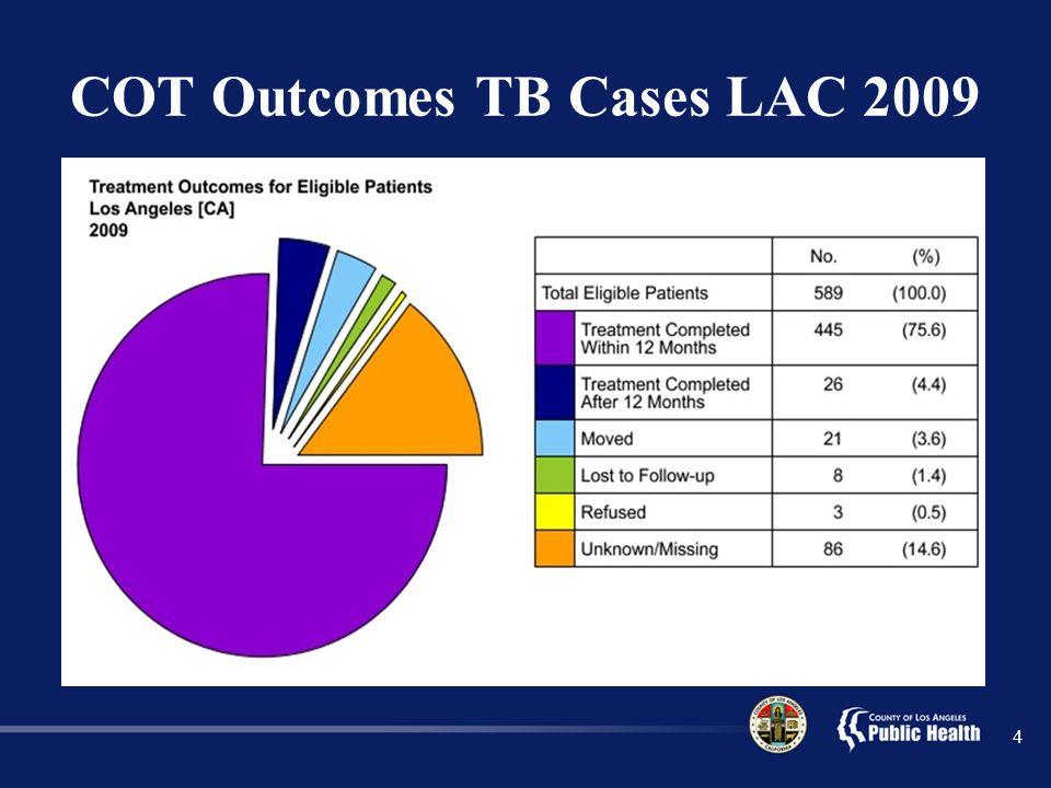COT Outcomes TB Cases LAC 2009 4