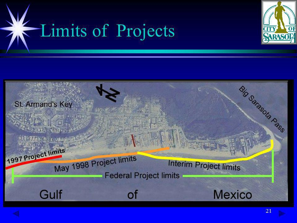 21 Limits of Projects 1997 Project limits