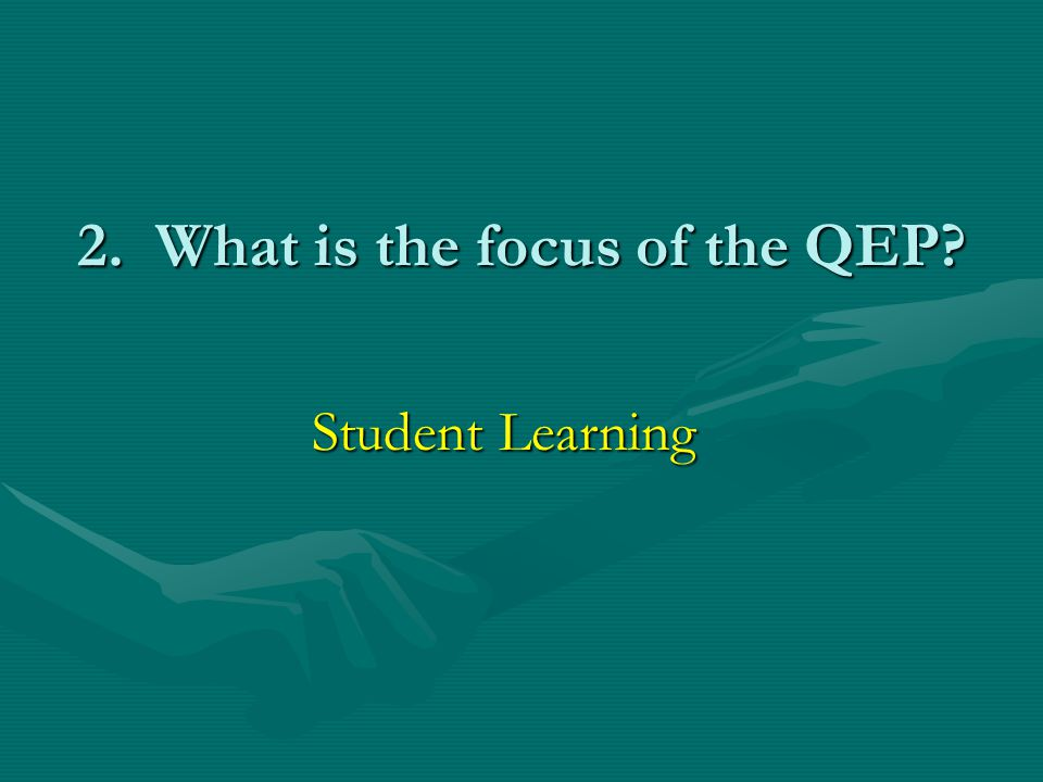 3.Why did we pick SAILS as the topic of our QEP.