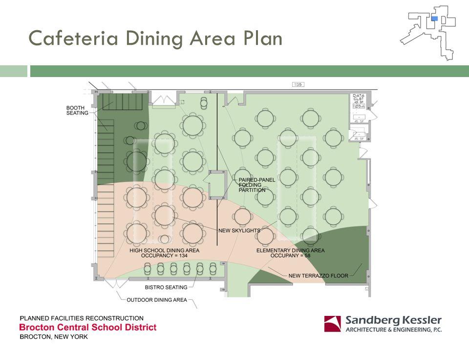 Cafeteria Dining Area Plan